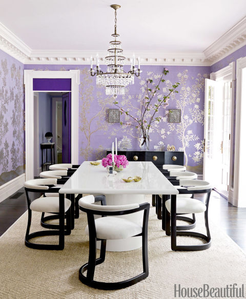 Purple house design mary mcgee interior design - Delicate apartment interior design with pale hues and movable walls ...