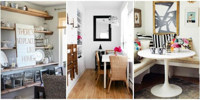 8 smart solutions if you don't have a dining room