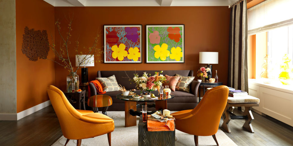 Living Room Design Ideas Orange Walls orange and black rooms - orange and black decorating ideas