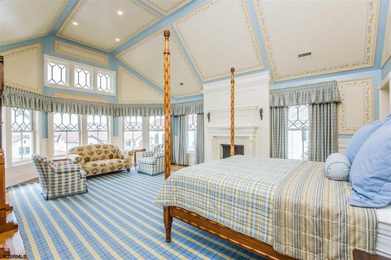 Master Bedroom House Rules victorian beach house tour - pattern interior decor inspiration
