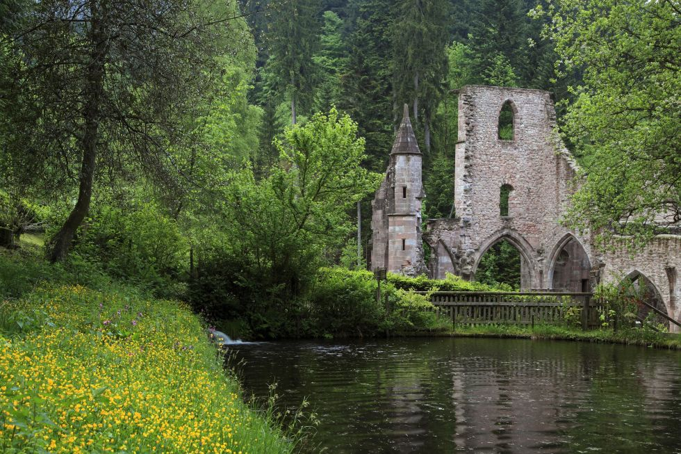 Located in the Black Forest in Germany, this church was first built in 1192 and has been struck by lightening and burnt up to three times since  — which is why it was eventually left in its current form as ruins.
