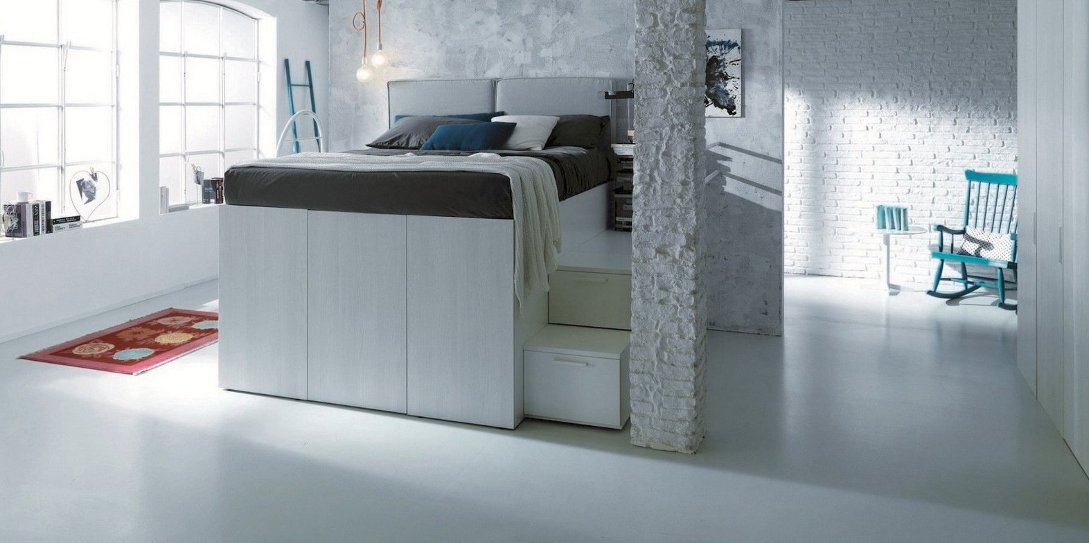two-in-one bed and closet - under the bed storage