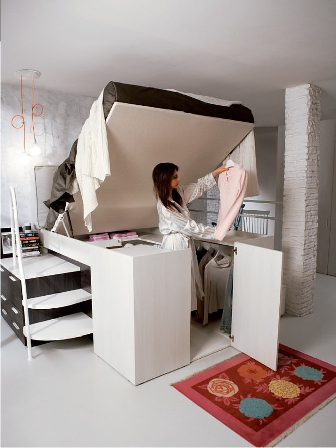 1445544211 matrimoniale contenitore Cùng nhìn qua chiếc giường tủ 2 trong 1 đầy tiện nghi giá 93 triệu đồng