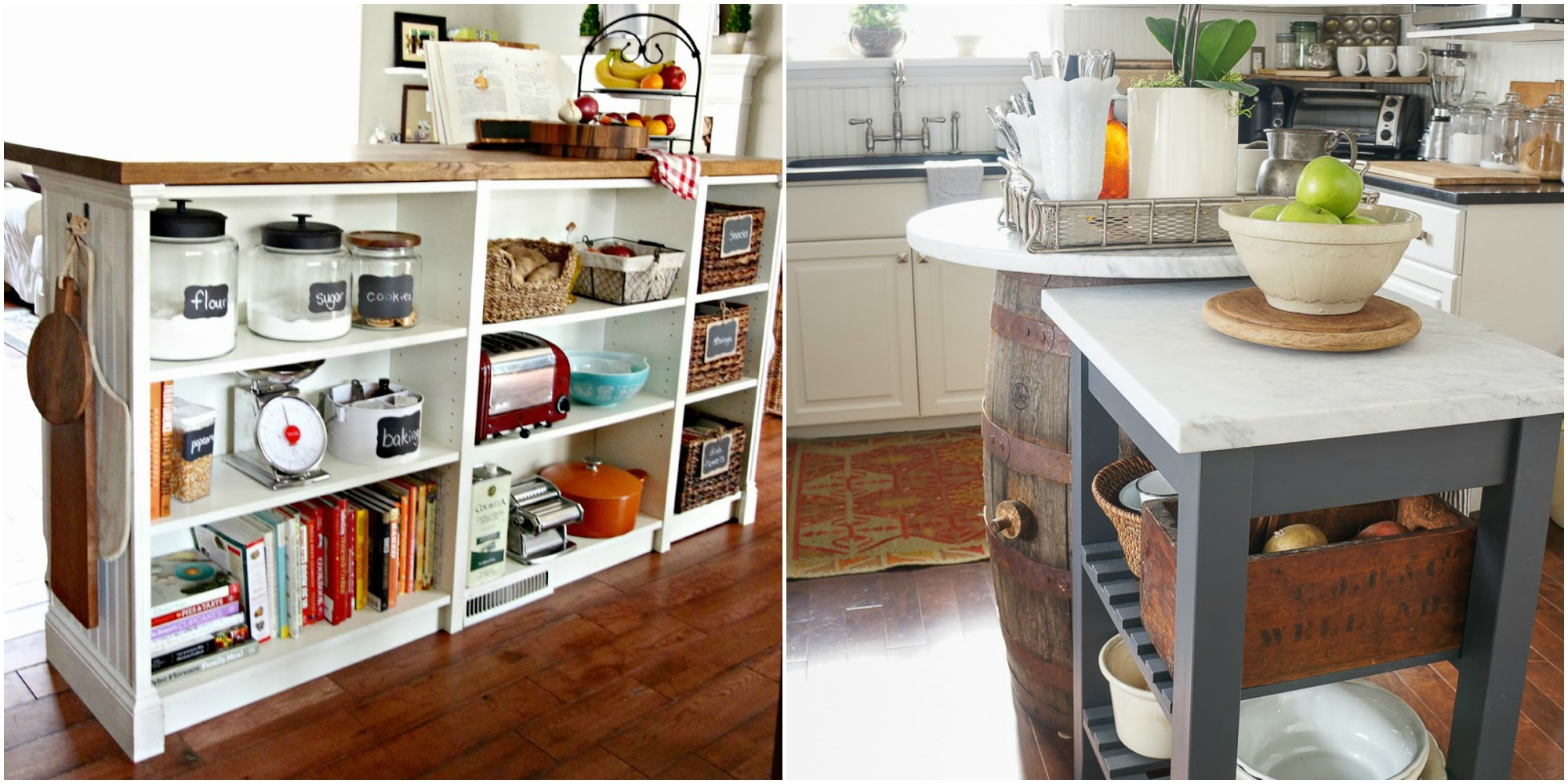 12 ikea kitchen ideas organize your kitchen with ikea hacks for Hacker kitchen designs