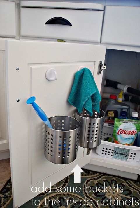 wrangle under the counter space - Kitchen Cabinet Organizers Ikea
