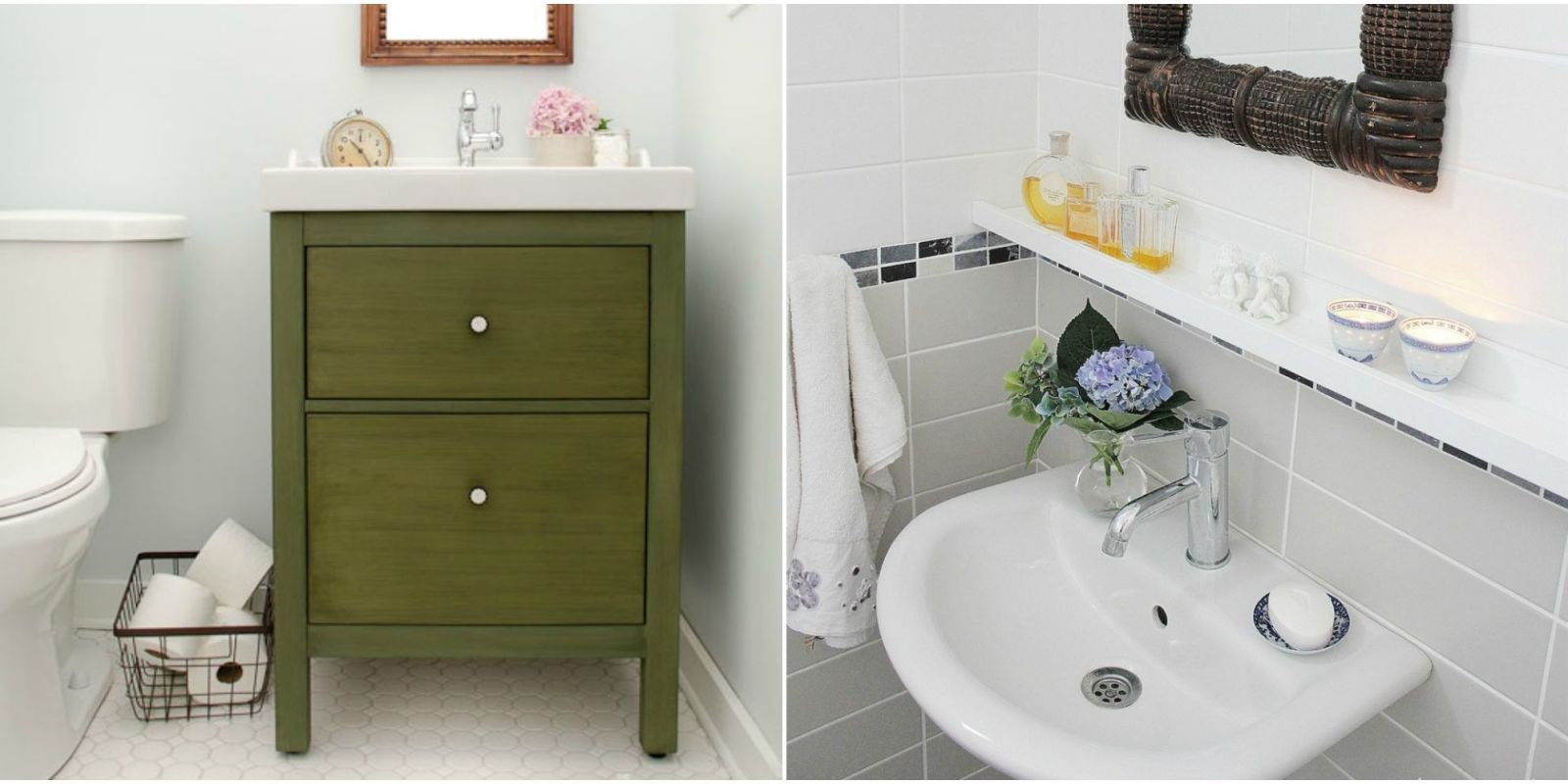 11 ikea bathroom hacks new uses for ikea items in the for Ikea bathroom design