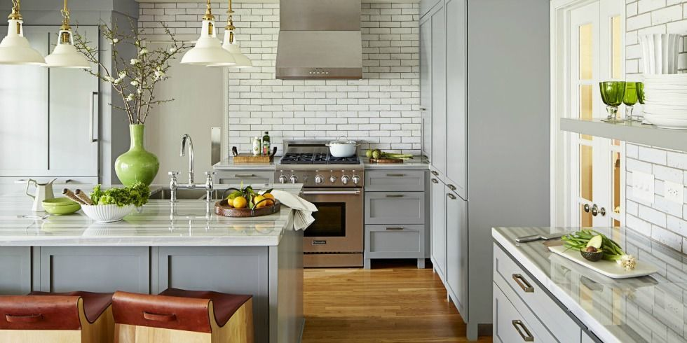Angie Hranowsky tour a serene indianapolis kitchen - gray kitchen
