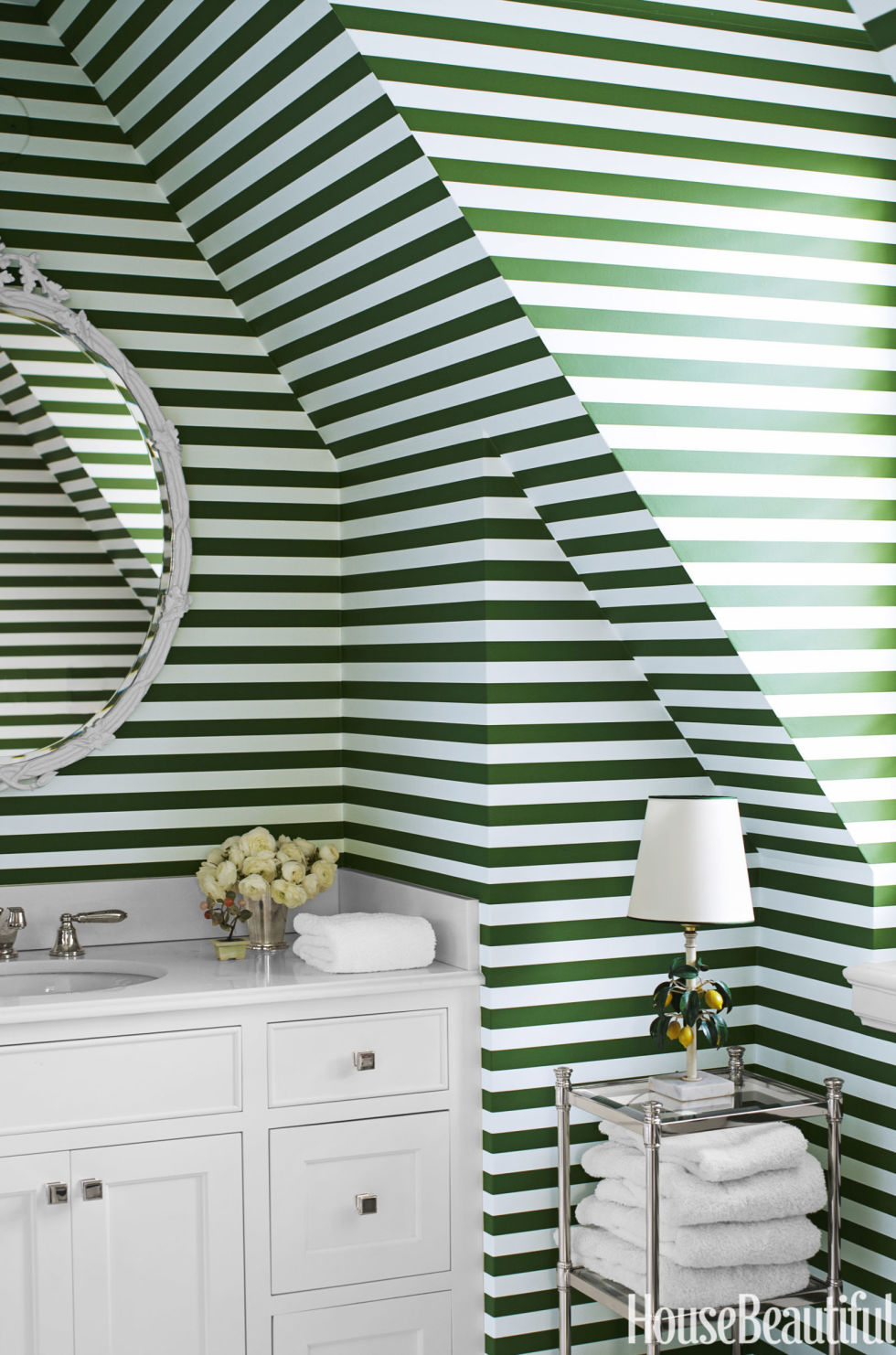 Green and white bathroom - Green And White Bathroom 37