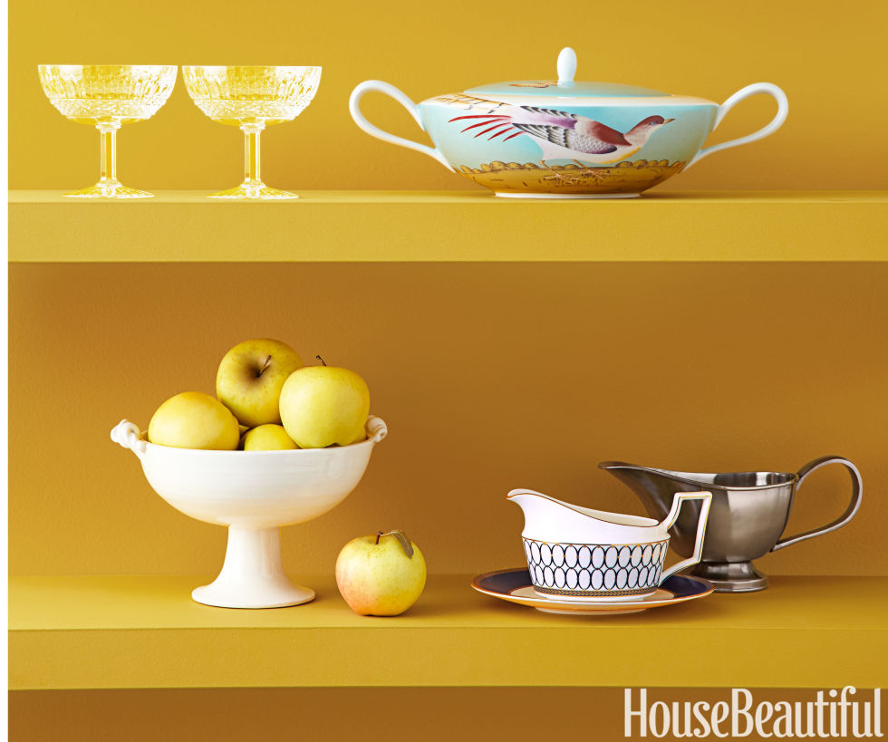 Consider this a doting note to grandmothers everywhere: You were right. Gravy boats and footed bowls are necessary members of the tablescape — especially now, with their au courant edge. Top, from left:Tommy Footed Cups. $420 each, saintlouis.com/en; Paradis Soup Tureen by Raynaud. $1,200, devinecorp.netBottom, from left:No. 2 Footed Bowl with Medusa Handle. $350, francespalmerpottery.com; Renaissance Gold Gravy Boat and Stand. $150 & $95, wedgwood.com; Lawrence Gravy Boat. $35, crateandbarrel.com