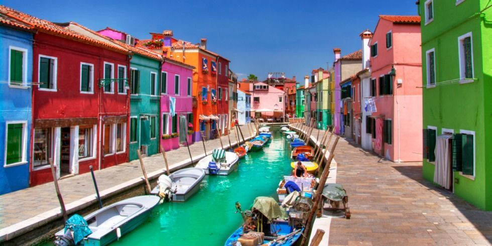 Colorful Burano Italy Tourism