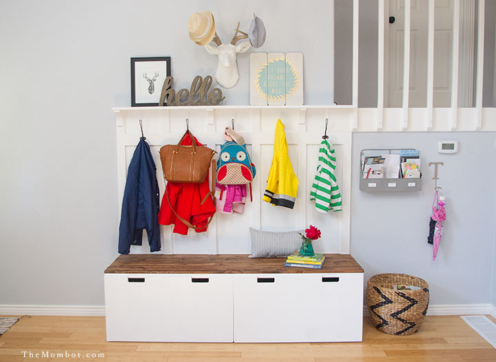 Entry Table With Storage 12 ikea hacks for your entryway - entryway storage ideas