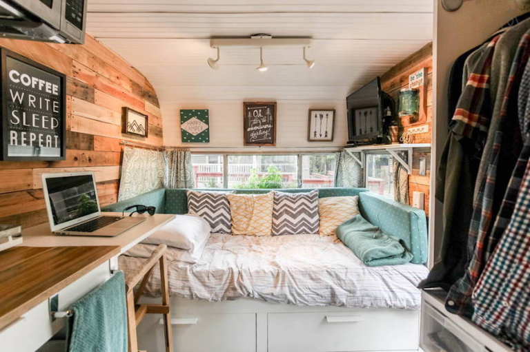 Camper Design Ideas rv interior decorating nice design with adventurer truck camper interior decor features on uncategorized This Retro Rustic Camper Just Might Be The Cutest Motel In Texas