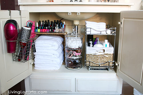 20 home organization ideas makeovers for house organization house beautiful for Under counter bathroom storage ideas