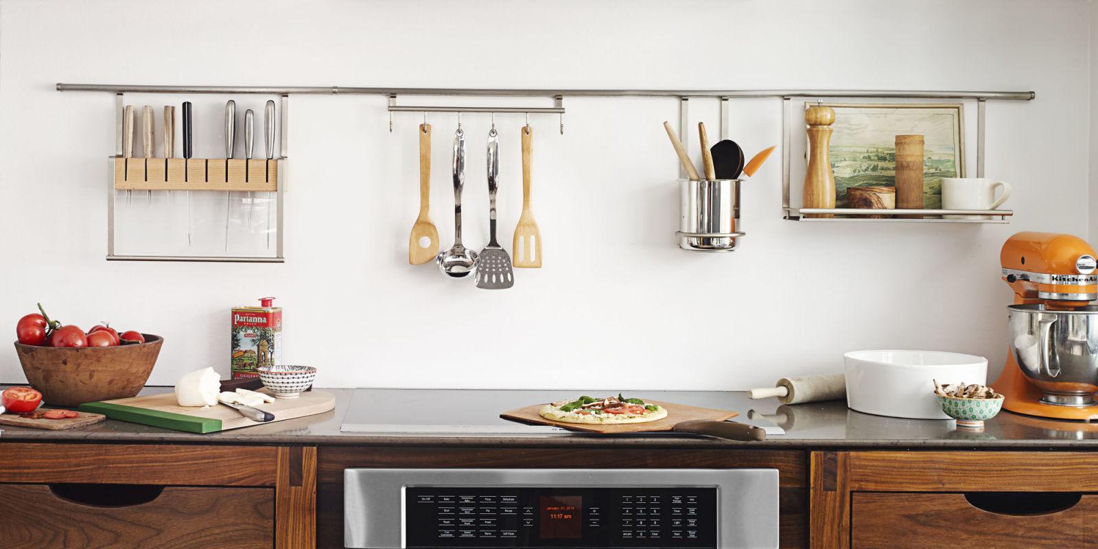 Uncategorized Kitchen Countertop Shelves 11 organization tricks that keep countertops clear kitchen decluttering ideas