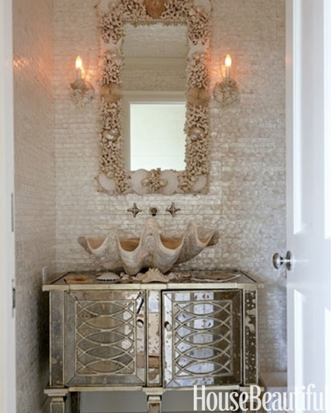 clamshell sink - Coastal Decorating Ideas