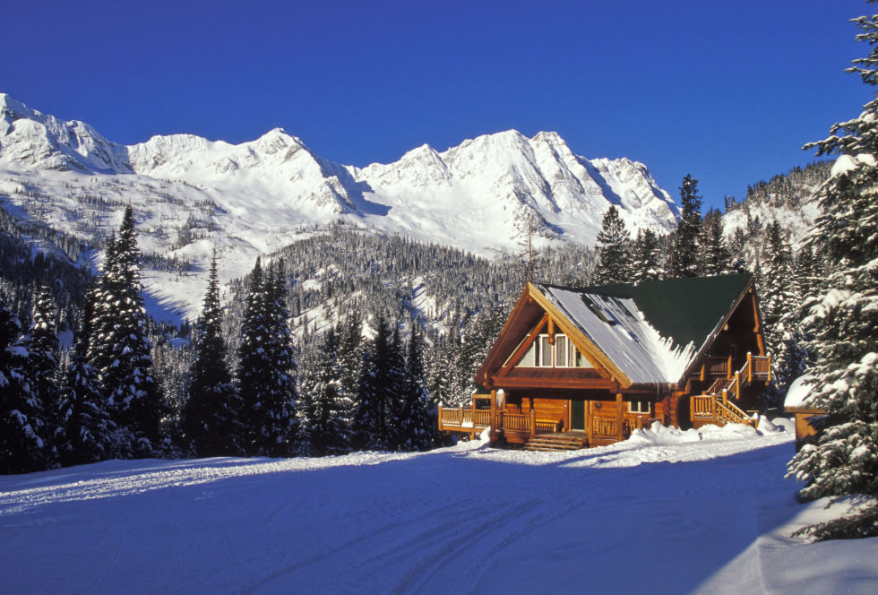 Image result for beautiful winter homes snowy