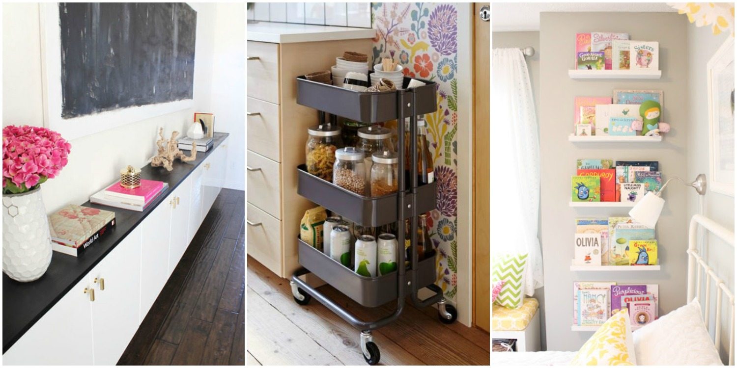 15 ikea storage hacks storage solutions with ikea products House beautiful com kitchens
