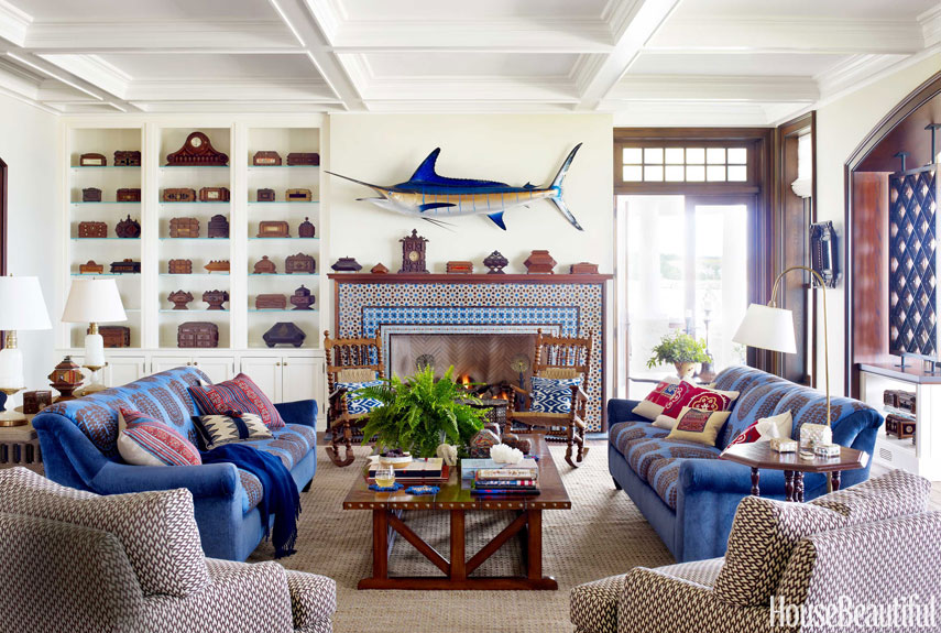 nautical home decor ideas for decorating nautical rooms house beautiful - New Ideas For Home Decor