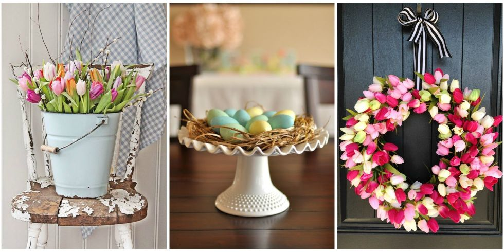 30+ Easter Decoration Ideas - Easter Flower Arrangements and Decor