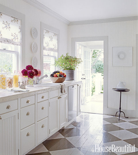 White Kitchens stylish white kitchen with large island White Is The Most Versatile Color Says Christopher Peacock You Can Change The Look In A Minute With Bright Kitchen Towels Colorful Appliances