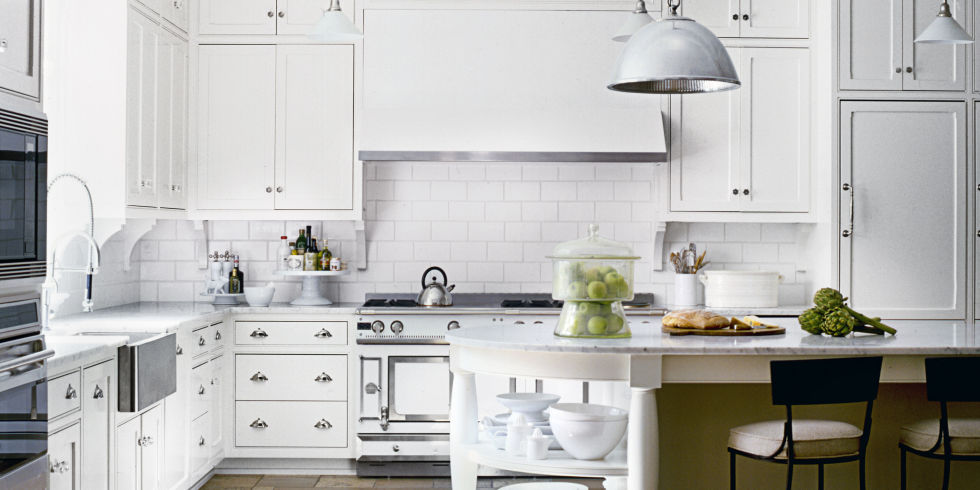 White Kitchen Design Ideas - Decorating White Kitchens