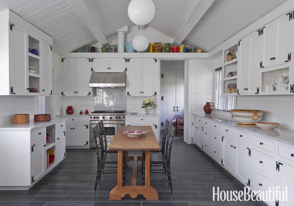 White Kitchen 10 wonderful white kitchens 4 Find Unexpected Flooring A White Kitchen