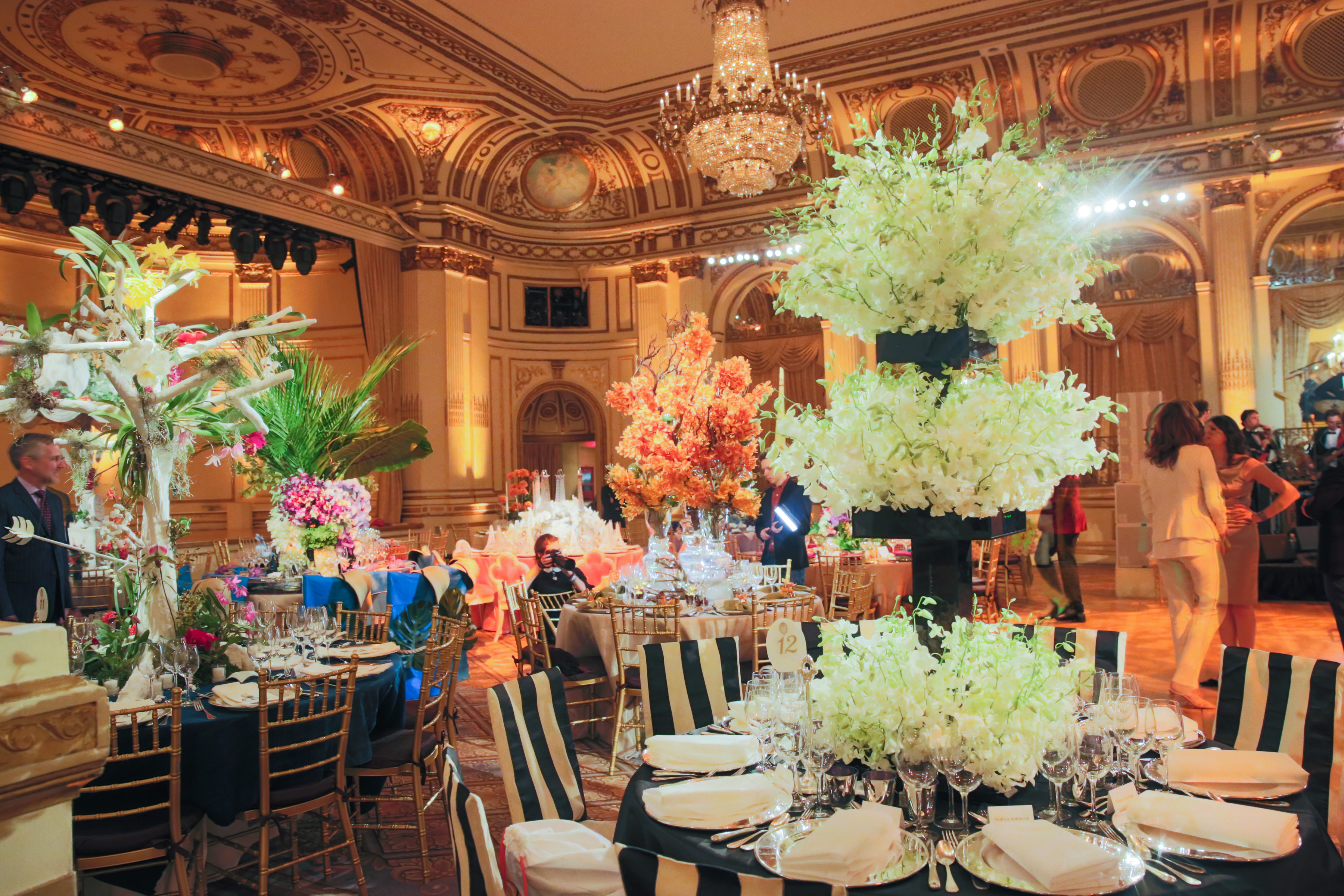 Orchid dinner amazing centerpieces