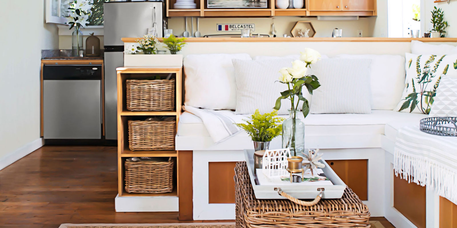 House tour 362 square foot home small space design for Home design ideas for small homes