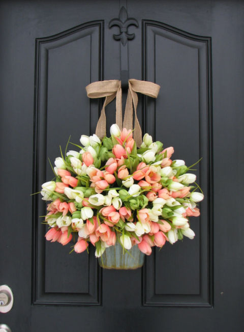 Spring Is Finally Here! Itu0027s Time To Switch Out Your Front Door Wreath.  Here Are Some Great Ideas That You Can Create Yourself. Good Luck Picking  Just One!