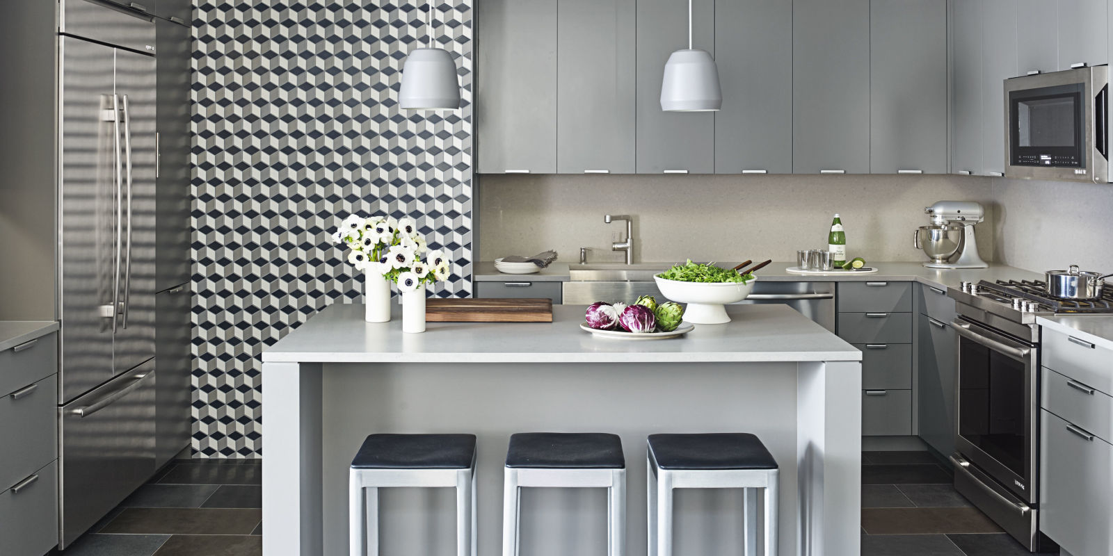 Gray kitchen ideas kitchen of the month april 2016 for House beautiful kitchens