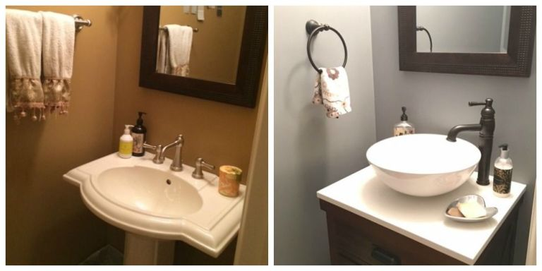 Bathroom Renovations Under $2000 bathroom remodel -- how we updated three bathrooms in one go for