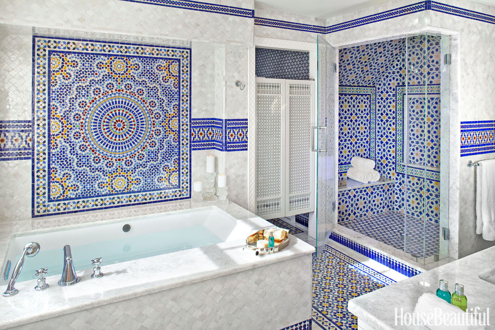 Bathroom Tile Ideas Blue And White 45 bathroom tile design ideas - tile backsplash and floor designs