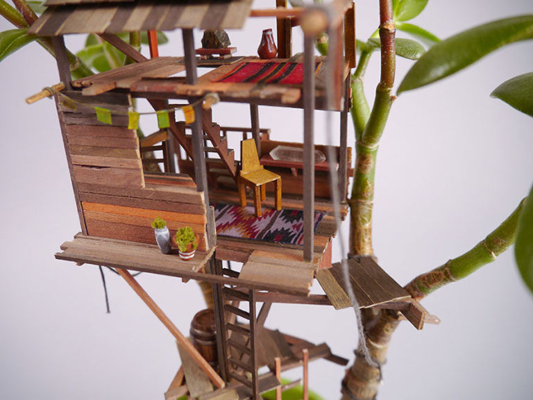 these mini tree houses will ignite your inner child