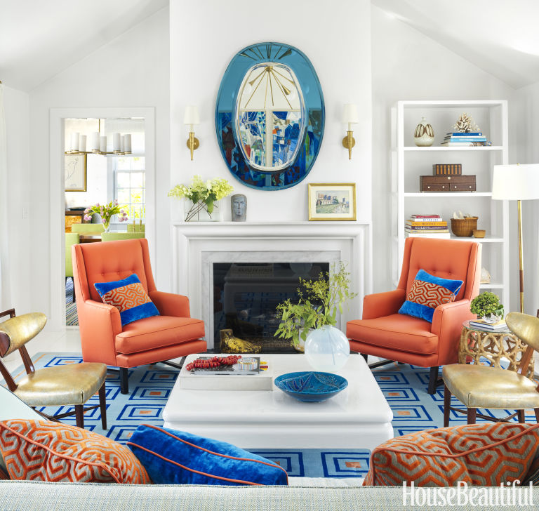 Complementary Colors Interior Design gary mcbournie interior designer - nantucket beach house