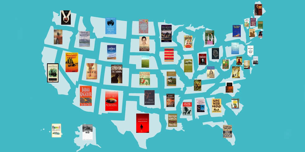 most famous books set in every state popular books set