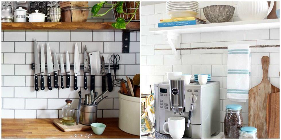 Kitchen Backsplash Shelves how to add storage on your backsplash - kitchen backsplash
