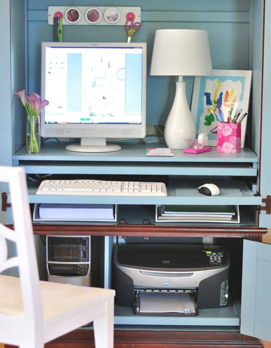 How To Hide Printer In Home Office Home Decor