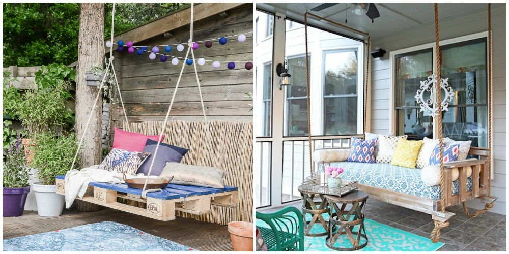 outdoor swing diys how to make an patio swing. Black Bedroom Furniture Sets. Home Design Ideas