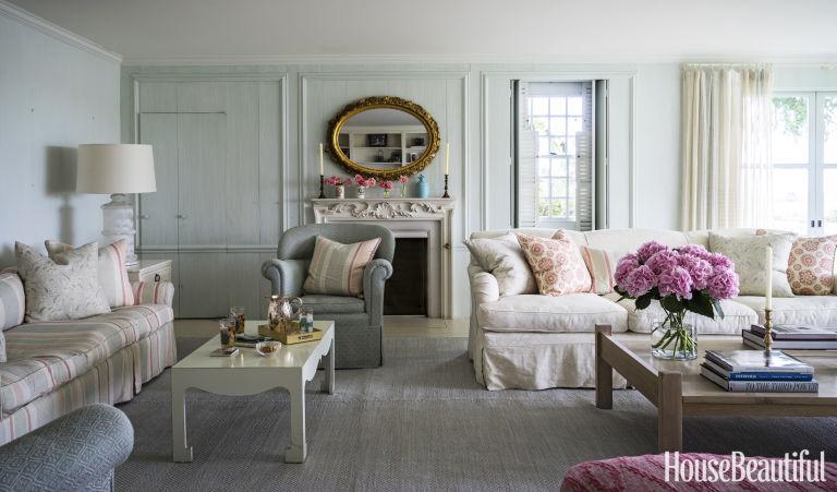 House Beautiful Living Room kathryn m. ireland interior design - jackie kennedy cape cod beach
