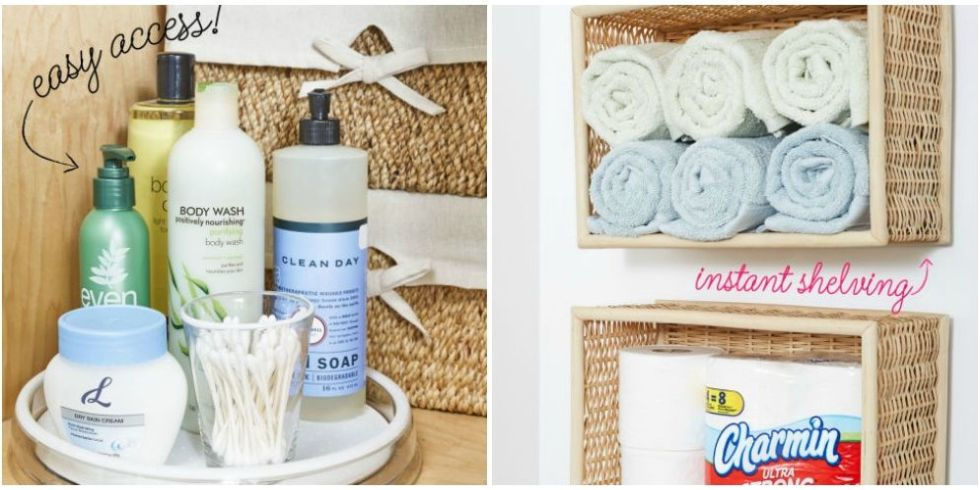 dollar store bathroom organization ideas - diy dollar store ideas