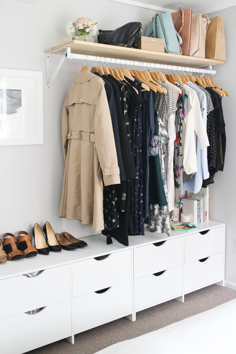 storage ideas for a bedroom without a closet genius clothing organization ideas
