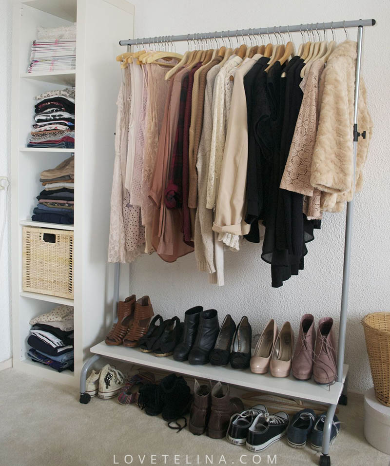 Wardrobe no closet roselawnlutheran for Storage ideas for small bedrooms with no closet