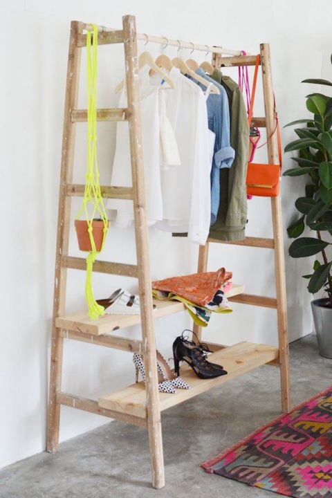 Invest in a Clothing Rack. Storage Ideas for a Bedroom Without a Closet   Genius Clothing