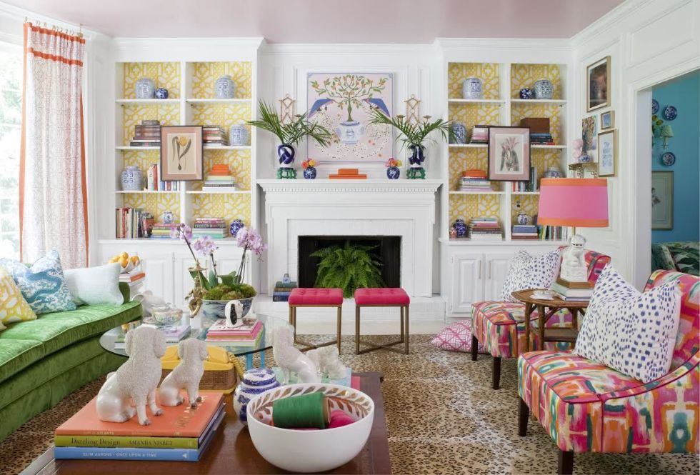 Paige Minear Wanted To Lighten Up Her Existing Den With Punchy Accents So She
