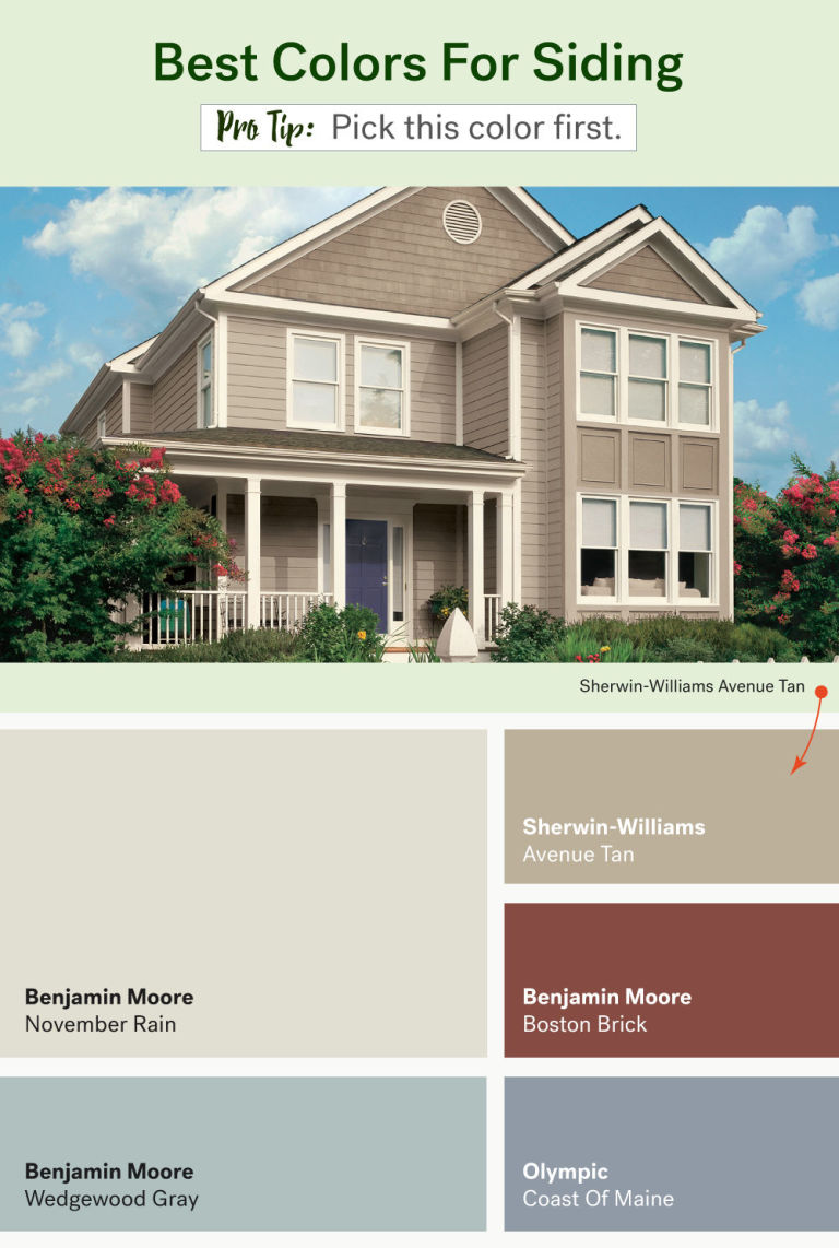 these are the most popular exterior home paint colors - Best Exterior Paint Combinations