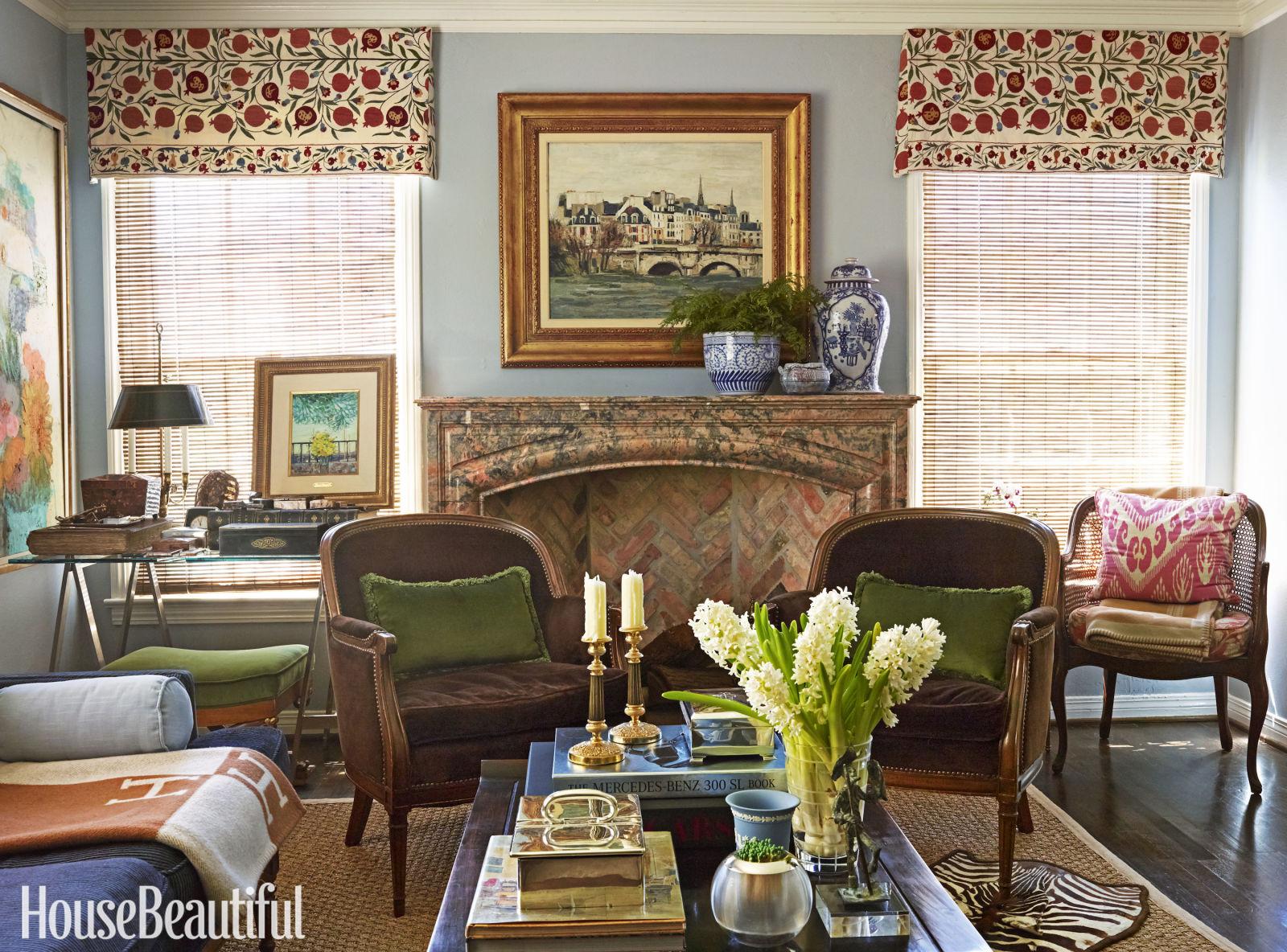 colorful texas cottage mackay boynton interior design living room