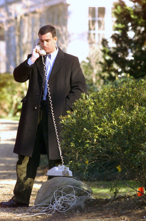 Or at least, you could when this photo was taken in January 2000. Technology has probably updated the procedure by now.