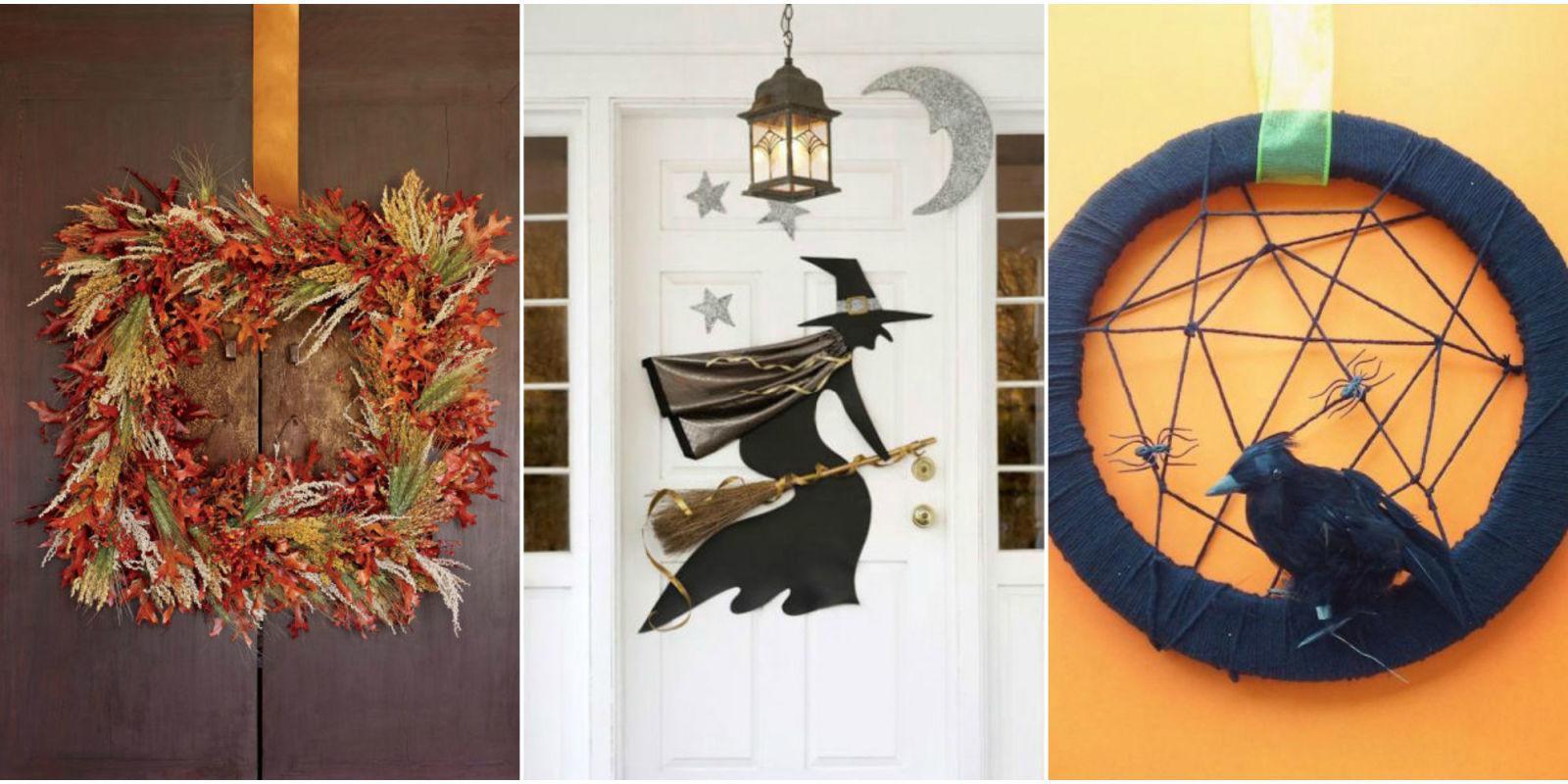 20 Diy Halloween Wreaths Halloween Door Decoration Ideas