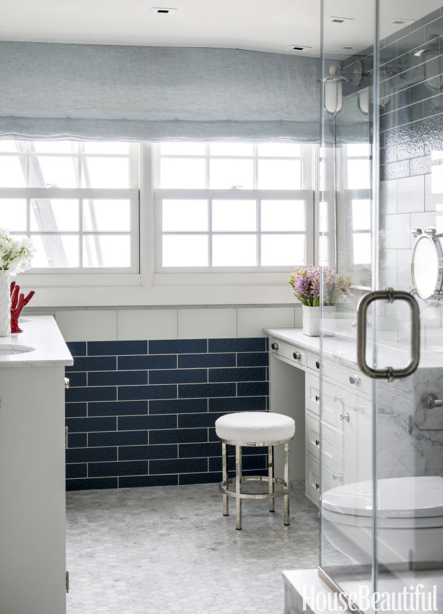 hexagonal bathroom tile design ideas