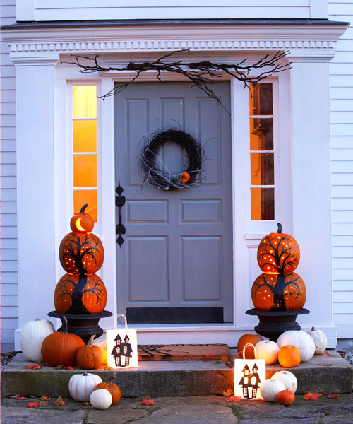 25 diy halloween wreaths halloween door decoration ideas - Halloween Front Doors
